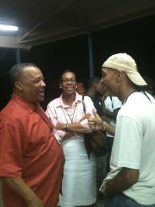 at Ridgecrest. Me and Fred Luter exchanging a light moment. He is the first black to be elected as President of the Southern Baptist Convention.